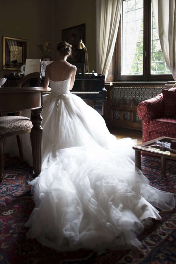 sposa con pianoforte luxury wedding