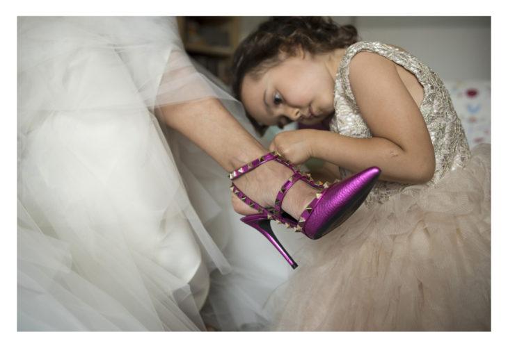 matrimonio villa il labirinto scarpe da sposa di valentino