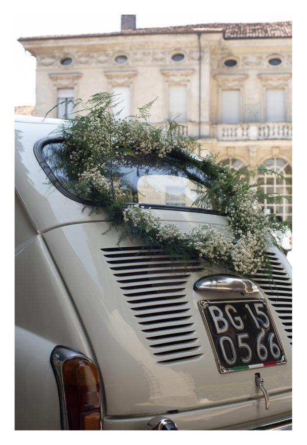 decorazione auto sposi Oggetthi
