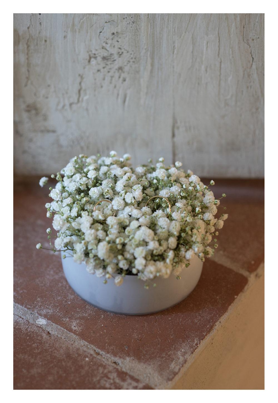 cuscinetto portafedi con fiori