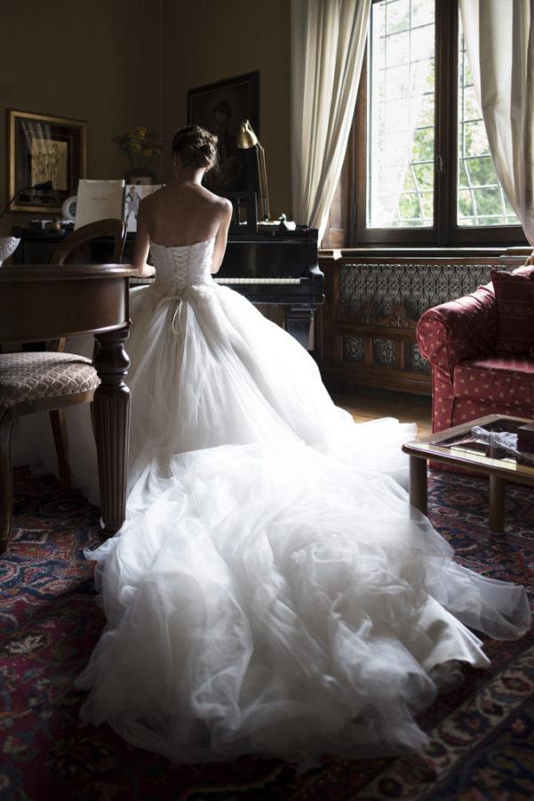 sposa con pianoforte luxury wedding