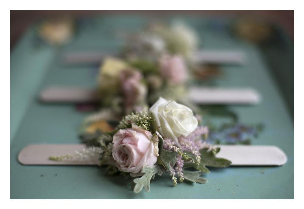 braccialetto fiori damigelle sposa